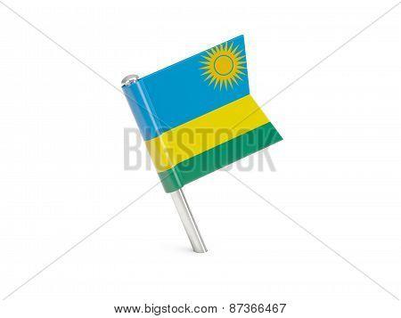 Flag Pin Of Rwanda