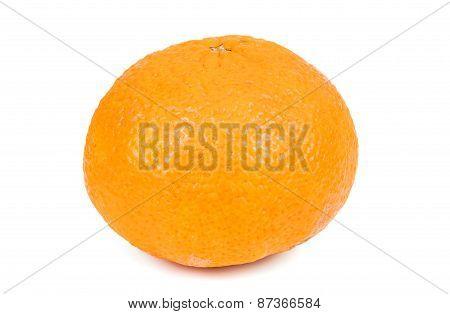 Whole Tangerine On White Background