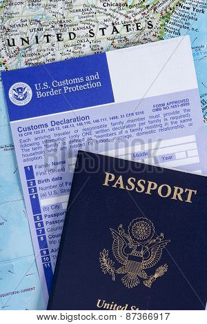 Passport With Customs Declaration