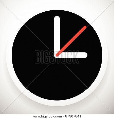 Clock Graphics, Clock Icon. Editable Clock With Hour, Minute And Second Pointers. Time, Schedule, Fa