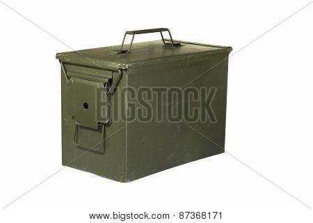 Olive Metal Ammunition Box Us