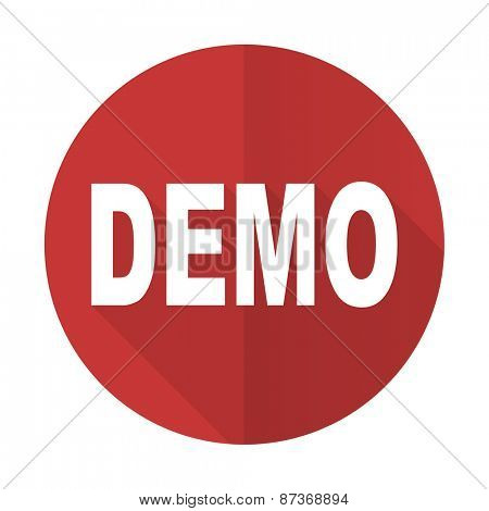 demo red flat icon