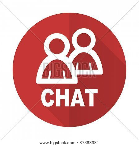 chat red flat icon
