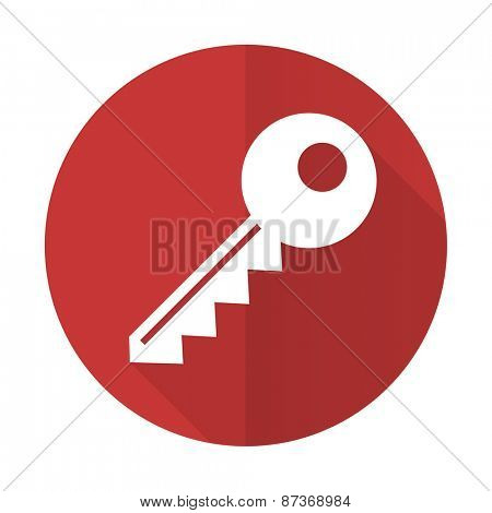 key red flat icon