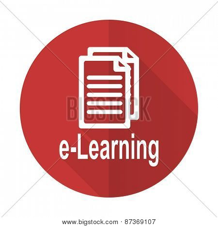 learning red flat icon