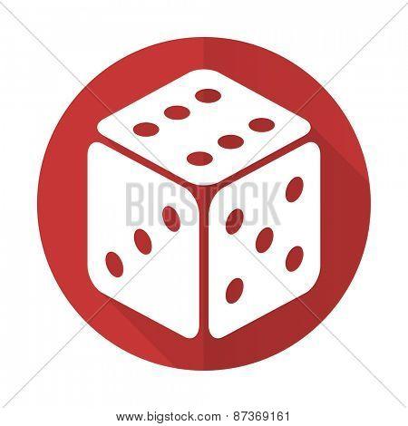 casino red flat icon hazard sign