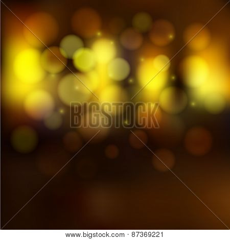 Blurred Golden Lights