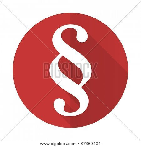 paragraph red flat icon law sign