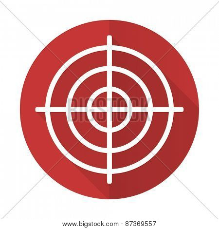 target red flat icon