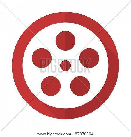 film red flat icon