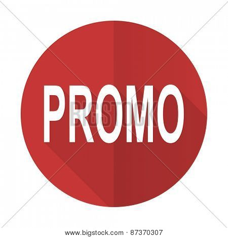 promo red flat icon