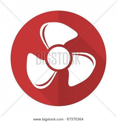 fan red flat icon