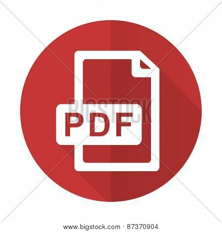 pdf file red flat icon