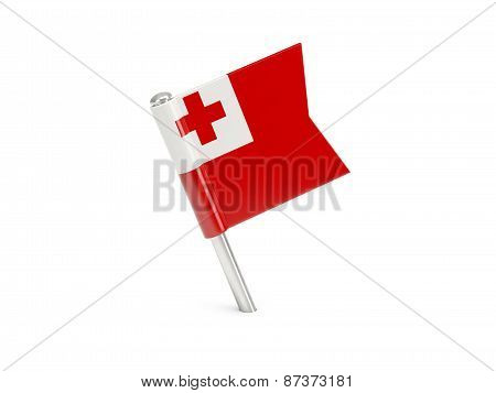 Flag Pin Of Tonga