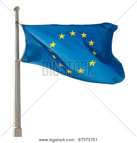 Waving European Union Eu Flag