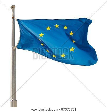 Waving European Union Eu Flag