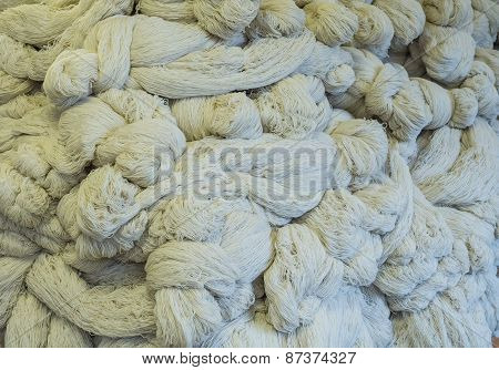Strands of wool