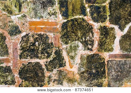 Old Grunge Stone Wall Background Texture