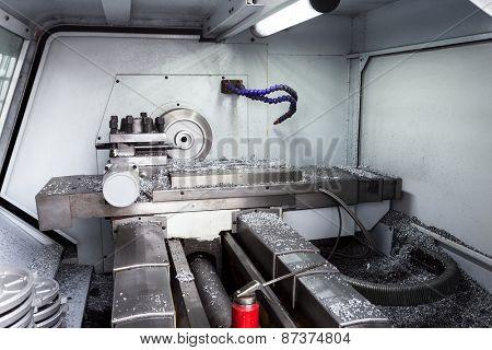 Industry lathe machine detail