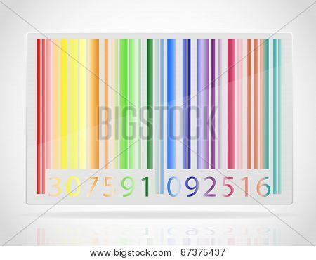 Multicolored Barcode Vector Illustration