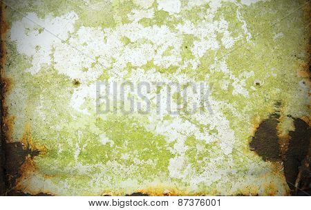 Rust Moss Coating Stains Metal Texture Background