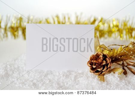 Christmas Card With A Bump