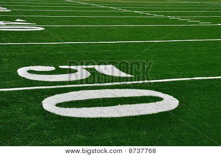 50-Yard-Linie auf american-Football-Feld