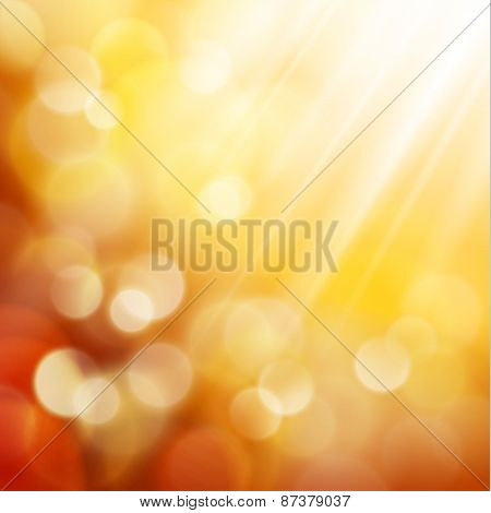 Yellow defocused lights background - eps10