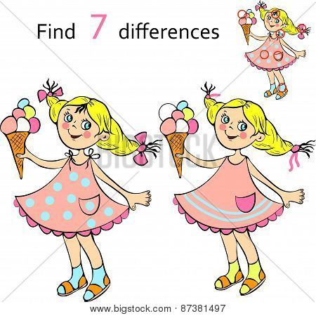 Find  differences girl