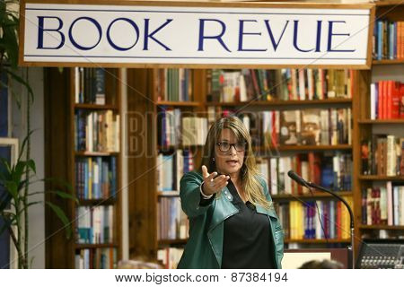 NEW YORK-APR 7: Actress Lorraine Bracco speaks to the crowd before signing copies of her book 'To The Fullest' at Book Revue on April 7, 2014 in Huntington, NY.