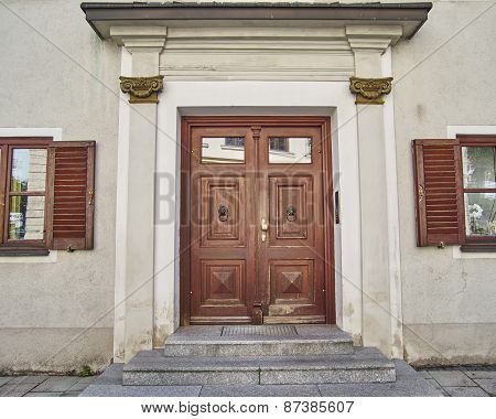 elegant house door Munchen Germany