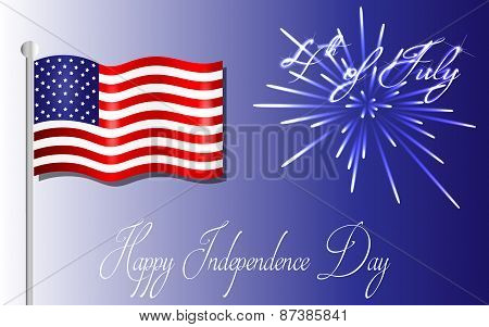 Happy Independence Day background, 4th of July