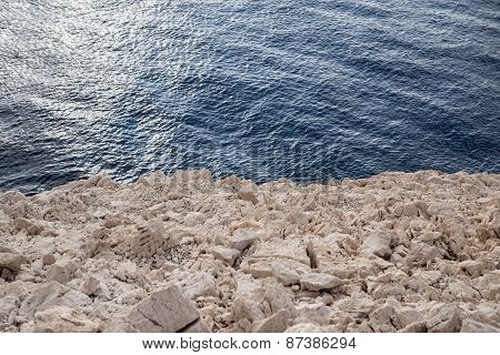 Beach with rocks and clean water