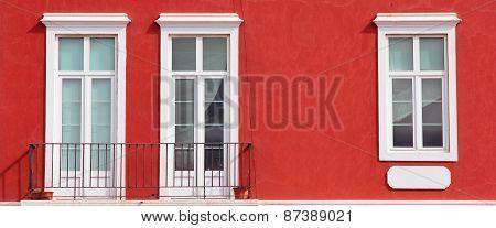 Spain. Canary Islands. Gran Canaria Island. Las Palmas De Gran Canaria. Detail Of Facade With Three