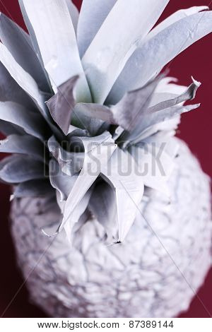 Fancy, white pineapple on the table
