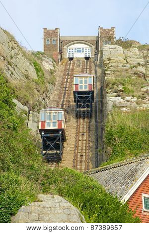 Cliff Funicular At Hastings. England