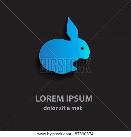 Abstract Vector Design Of A Hare. Business Template Flat Logo