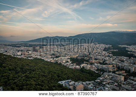 Panoramic View Of Athens From Mount Lycabettus