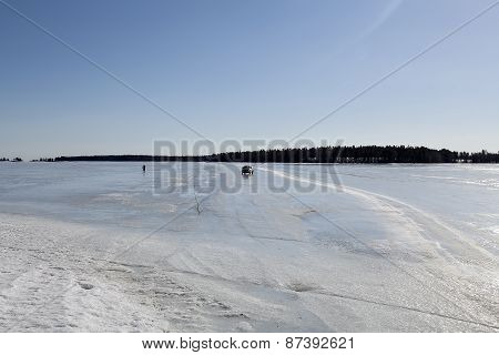 An ice road