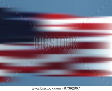 American Flag Background Blur
