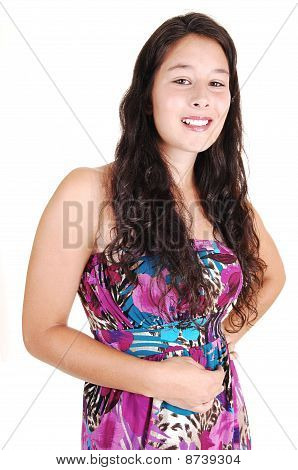 Retrato de menina bonita.