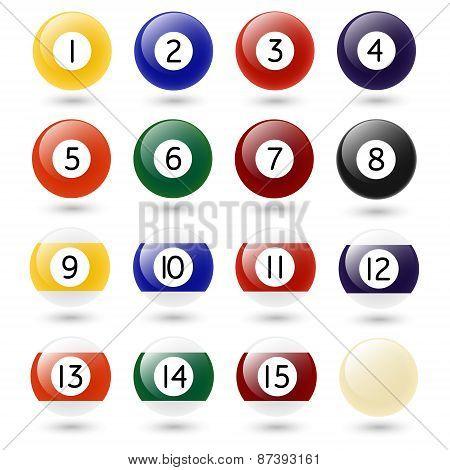 Vector Pool Balls.