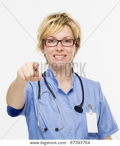 Woman doctor and positive attitude
