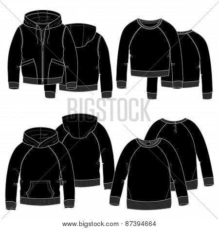 Girls hoodies.Black