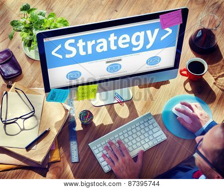 Strategy Planning Business Analysing Marketing Concept