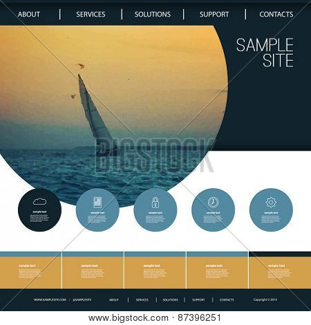 Website Design for Your Business with Sailboat Image Background