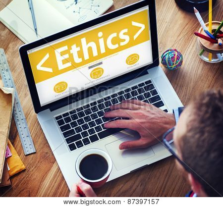 Online Ethics Religion Morality Office Working Concept