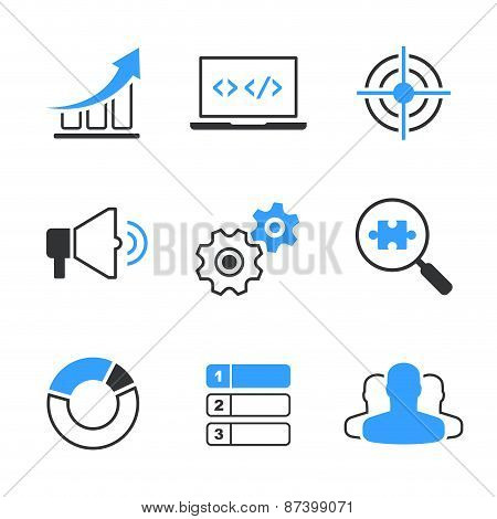 SEO simple vector icon set