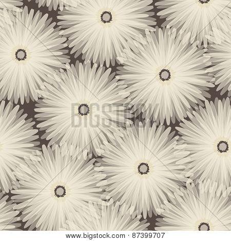 Seamless pattern. Floral stylish background.