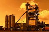 stock photo of slag  - Asphalt plant - JPG